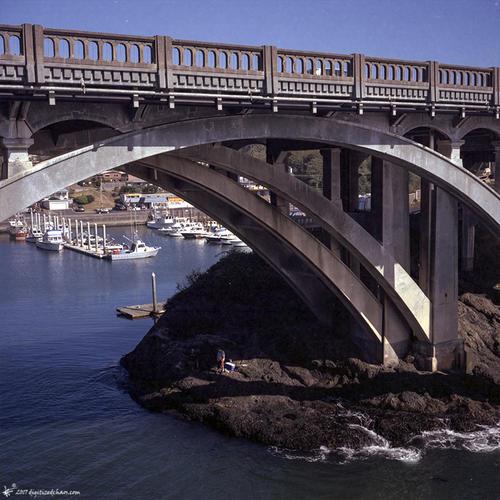 fishing under the bridge